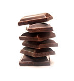 kawałek czekoladowa ciemna sterta Zdjęcia Royalty Free