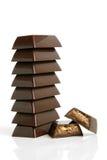 kawałek czekoladowa sterta Obrazy Royalty Free