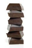 kawałek czekoladowa sterta Zdjęcie Stock
