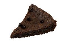 Kawałek czekoladowy Cake&chip Zdjęcia Stock