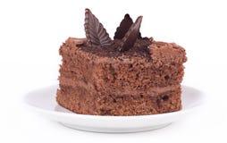 Kawałek czekoladowy tort Fotografia Stock