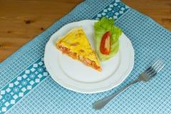 Kawałek domowej roboty pasztetowy serdecznie ptysiowy ciasto Zdjęcia Royalty Free