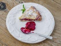Kawałek malinowy cheesecake Zdjęcie Royalty Free