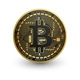 Kawałek moneta Elektroniczna waluta Obrazy Royalty Free