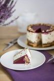 Kawałek owocowy cheesecake Obrazy Royalty Free