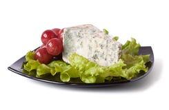 Kawałek ser i winogrona zdjęcia royalty free