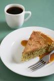 Kawałek tort i kawa Obrazy Royalty Free