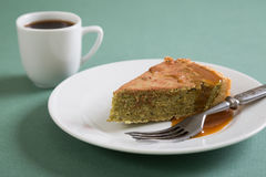 Kawałek tort i kawa Obraz Royalty Free