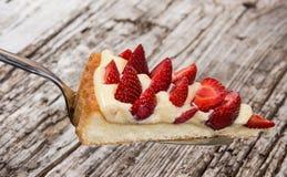 Kawałek Tort na tortowym lifter Fotografia Stock