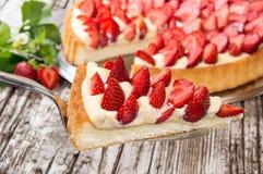 Kawałek tort na tortowym lifter Fotografia Royalty Free