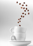 kawa espresso dwoista metafora Fotografia Stock