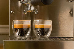 kawa espresso dwoisty strzał Fotografia Royalty Free
