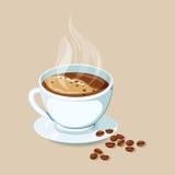 Kawa espresso gorący napoje royalty ilustracja