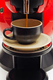 kawa espresso robienie Zdjęcie Stock