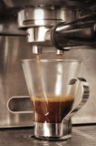 Kawa espresso strzał fotografia royalty free