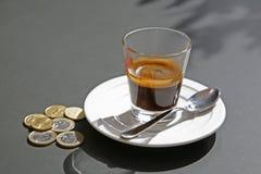 kawa espresso szkło zdjęcie royalty free