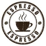 Kawa espresso znaczek ilustracja wektor