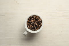 Kawa Filiżanka i kawowe fasole fotografia stock