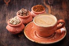 Kawa Filiżanka kawy Różni typ kawa Fotografia Stock