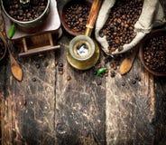 kawa gotowa wykorzystania tła świeża fasoli kawa Fotografia Royalty Free