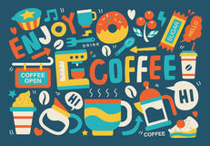 kawa gotowa wykorzystania tła Obraz Stock
