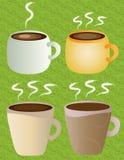 Kawa, herbaciane filiżanki ilustracja wektor