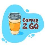 Kawa 2 Iść filiżanka Obrazy Stock
