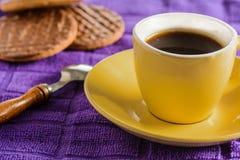 Kawa i ciastka Zdjęcia Stock