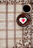 Kawa i ciastko fotografia stock
