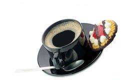 Kawa i ciastko zdjęcie stock