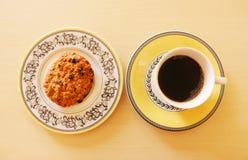 Kawa i ciastko Zdjęcia Royalty Free