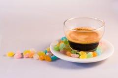 Kawa i cukier Zdjęcie Royalty Free