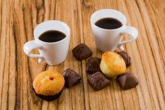 Kawa i cukierki Obraz Royalty Free