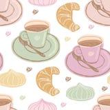 Kawa i deser ilustracji