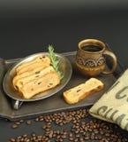 Kawa i grzanka Fotografia Stock
