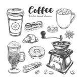 Kawa i kawa iść set ilustracji