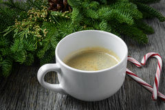 Kawa i Kierowa kształta cukierku trzcina dla wakacji Zdjęcie Stock