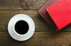 Kawa i książki Obrazy Royalty Free