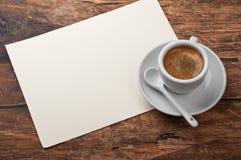 Kawa i list Zdjęcie Stock