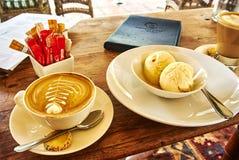 Kawa i lody w Constantia, Kapsztad Zdjęcie Royalty Free