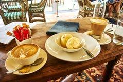 Kawa i lody w Constantia, Kapsztad Zdjęcia Royalty Free