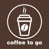 Kawa iść, majcher w okno, wektorowy logo, sieci ikona, guzik, etykietka, znak, matrycuje, piktograf Mieszkanie liniowy Zdjęcia Royalty Free