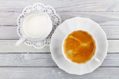 Kawa i śmietanka Fotografia Stock
