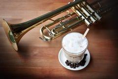 Kawa i Muzyka Zdjęcia Royalty Free