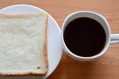 Kawa i plasterka chleb Zdjęcia Stock