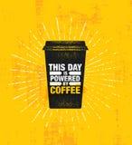 Kawa I przyjaciele Robimy Perfect mieszance Inspirować Cukiernianej dekoraci motywaci wycena plakata Kreatywnie szablon fotografia stock