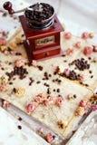 Kawa i róże zdjęcia royalty free