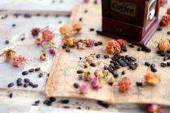 Kawa i róże obraz royalty free