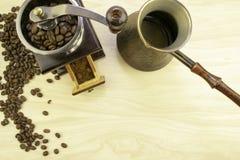 Kawa i swój przygotowanie zdjęcie stock