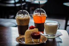 Kawa i tort Obrazy Royalty Free